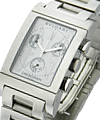 Bvlgari Rettangolo 49mm Chronograph Steel on Bracelet with White Dial
