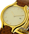 Ebel Beluga Lady''s 18KT Yellow Gold on Strap with Ivory Dial