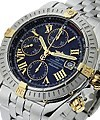 Breitling Chronomat Evolution Men's Automatic in 2-Tone 2 Tone Head  on Steel  Bracelet with Black Dial