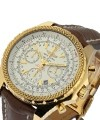 Breitling Bentley Motors Chronograph Rose  Gold on Strap with Silver Dial