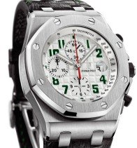 Audemars Piguet Royal Oak Offshore Pride of Mexico Titanium on Strap with White Dial - Limited to 200 pcs