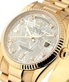 Rolex Used Rose Gold Men''s President Day Date Fluted Bezel - Meteorite Diamond Dial
