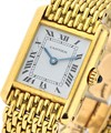 Cartier Tank Louis Cartier Small  on Yellow Gold Bracelet with White Dial