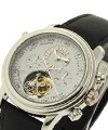 Blancpain Leman Platinum Tourbillon Split Second Chronograph Platinum Case on Strap with White Dial
